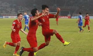 Indonesia Kalahkan Taiwan 3-1 Piala AFC U-19 2018