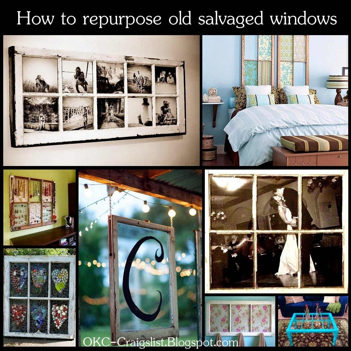 DIY HOW TO: Repurpose Old Salvaged Windows as Home Decor