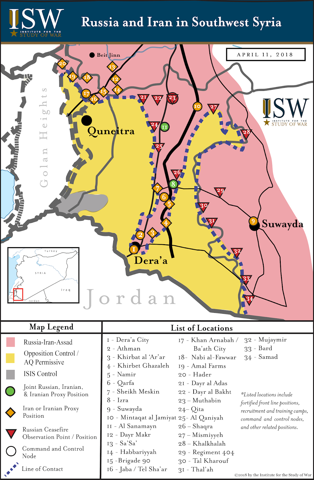 Isw blog map russia and iran in southwest syria map russia and iran in southwest syria gumiabroncs Images