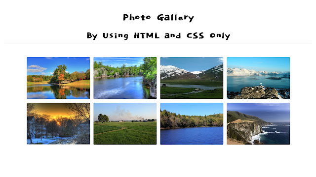 photo gallery in css and html