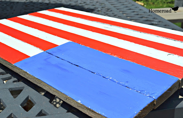 Rustic pallet wood American Flag Tutorial