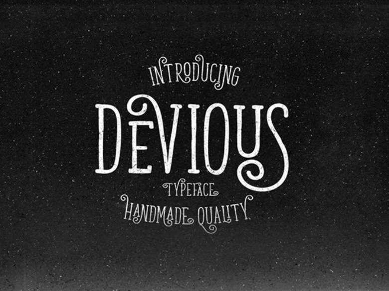 Download Font Terbaru 2016 - Devious Handmade Typeface