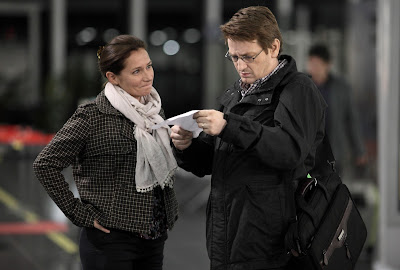Sidse Babett Knudsen (Irène Frachon) y Benoît Magimel (Antoine le Bihan)