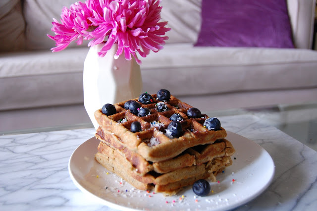 All-Natural Protein Coconut Waffles