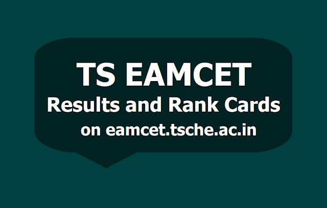 TS EAMCET 2019 Results, Rank cards on eamcet.tsche.ac.in