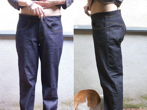 Meine selbstgemachte Jeans - Schritt 3:  passt / passt nicht