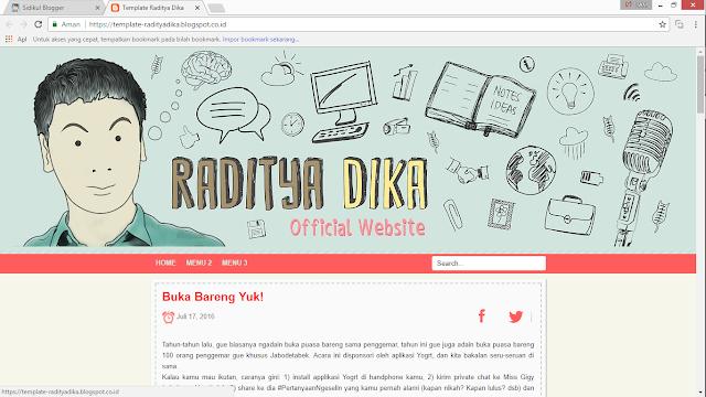Intip Template Blog Pribadi Raditya Dika Yuk! Katanya Responsive Dan Simple