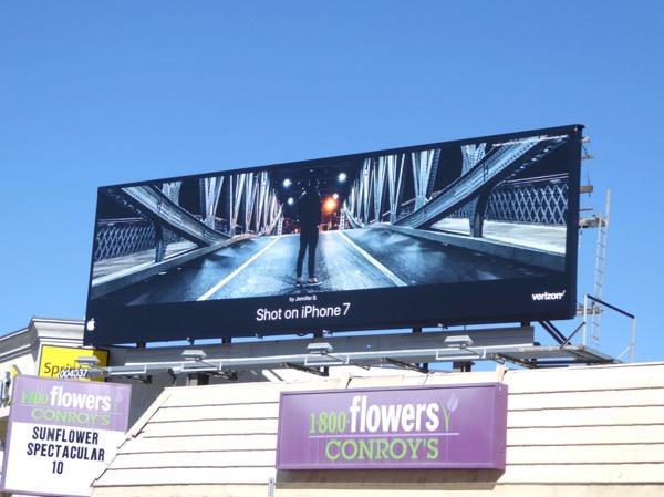 Shot on iPhone 7 Bridge billboard