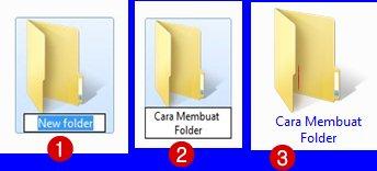 Cara Memberi Nama Folder baru di Komputer-Laptop