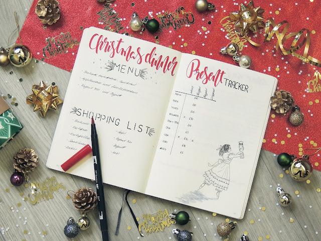 bullet journal page ideas for christmas blogmas glitterisblack
