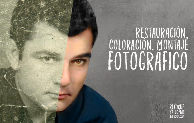 Restauración, retoque, coloración, montaje de fotos en Lima