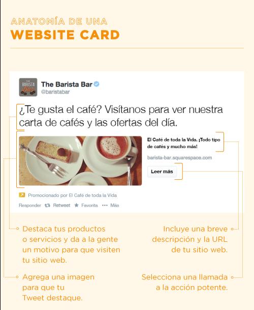 La anatomía de una Website Card