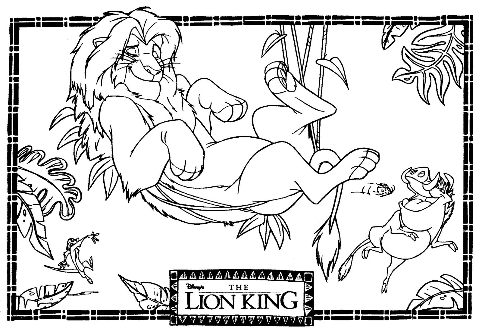 Mostly Paper Dolls Too!: THE LION KING Movie Coloring Contest
