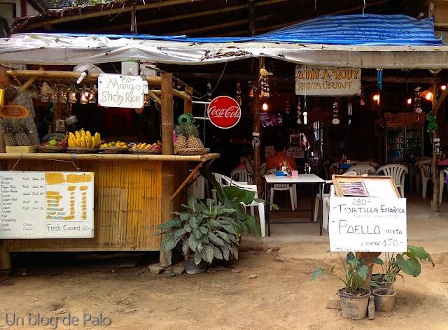 Zona de restaurantes en Railay Krabi tailandia