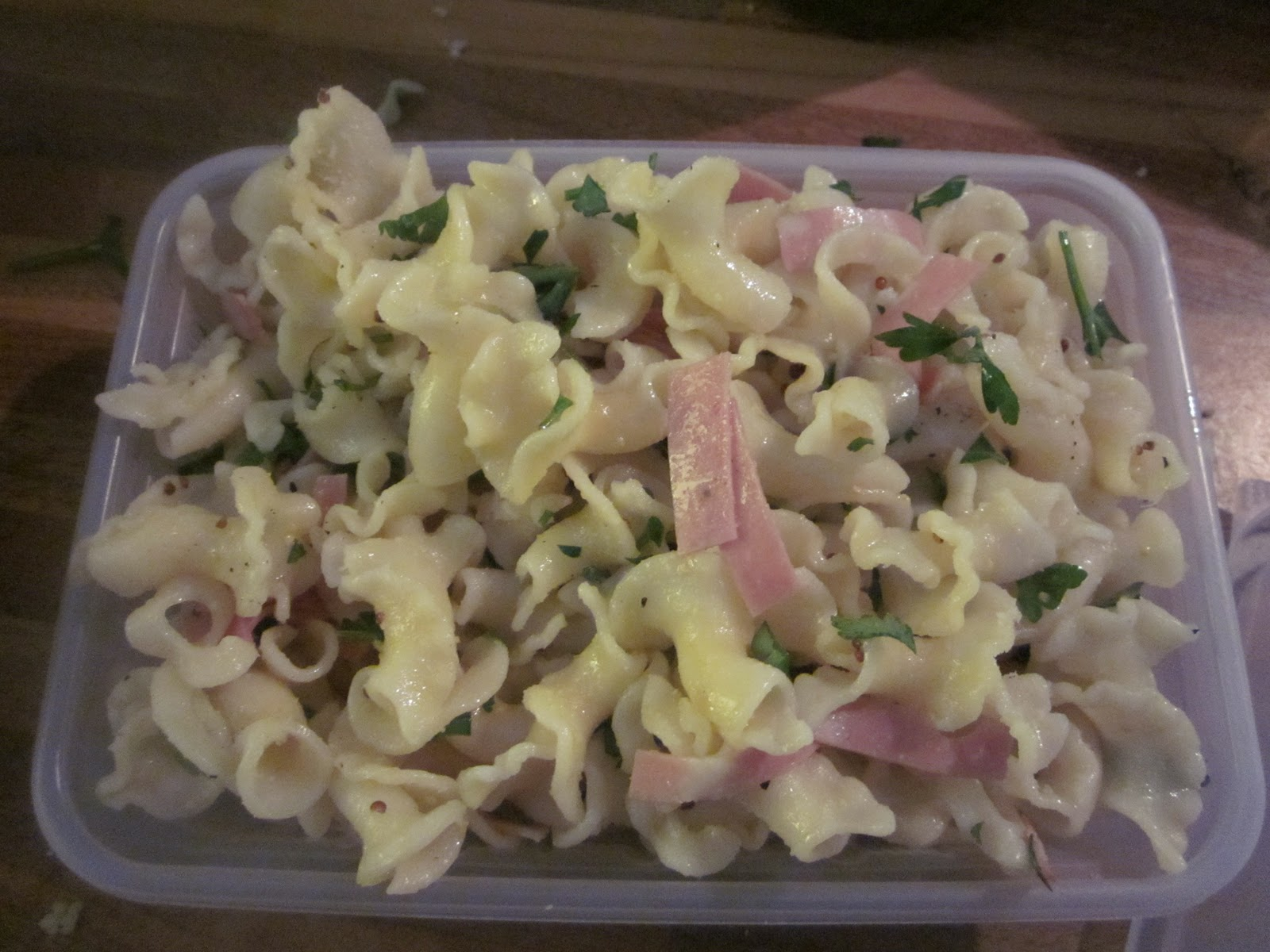 Mortadella Pasta Salad | Blue Sky and Bunting