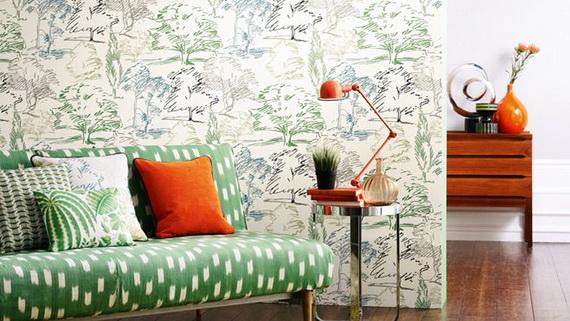 Hogares frescos colecci n de primavera de papel pintado for Disenos de interiores pintados