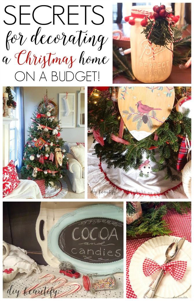 I'm sharing all my secrets for achieving a designer handmade Christmas home on a budget right here at diy beautify!