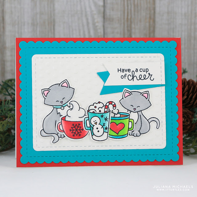 Cup Of Cheer Coffee Card by Juliana Michaels featuring Newton's Nook Designs Cup of Cocoa Stamp Set