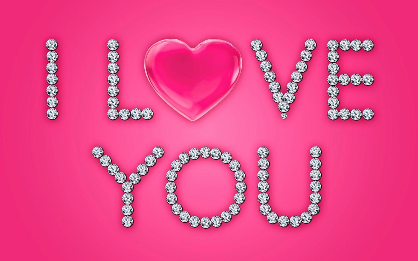 Roze liefdes achtergrond met diamanten
