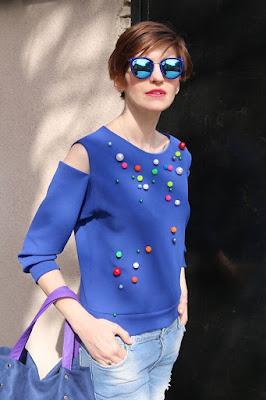 bluza, stylizacja na wiosnę, Novamoda streetstyle, novamoda stylizacje, street style wiosna, blog po 30-tce, street style poznań