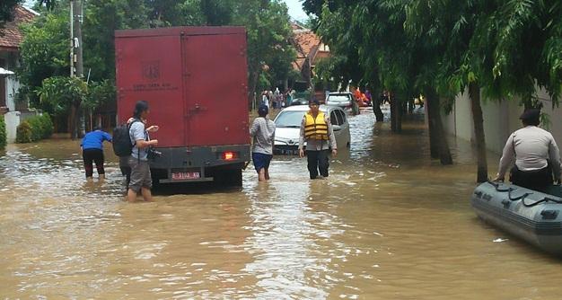 Dapat Kiriman Air Dari Bogor, Beberapa Wilayah di Jakarta Kebanjiran