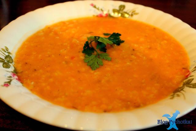 Zupa z soczewicy czerwonej i ryżu basmatii