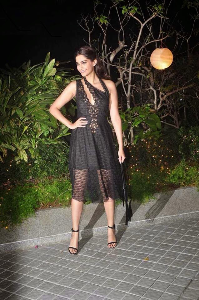 Sonam in Stella McCartney at Farah Khan's party last night