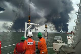 Borneo, Oil Spill, Indonesia