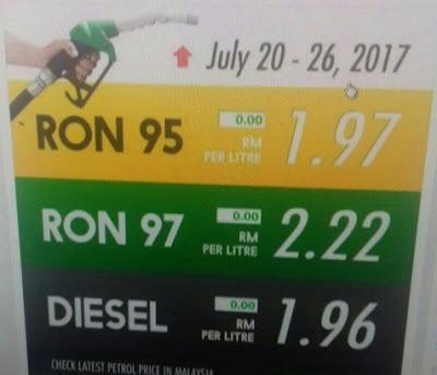 harga minyak baru, harga minyak mingguan, kpdnkk, baik buruk, minyak turun, seliter berapa rm, mac, april,june, jun, july, 2017, harga pasaran minyak dunia, cerita viral, abang seksi,