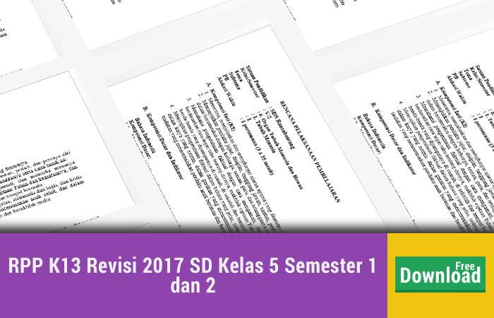 RPP K13 Revisi 2017 SD Kelas 5 Semester 1 dan 2