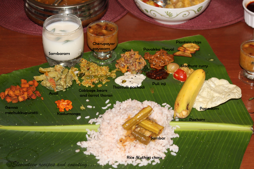 Easy Cake Recipes In Malayalam: Eleventeen Recipes And Counting.....: Onam Sadhya 2013