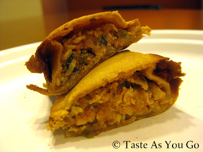 Spicy Chicken Empanada from Nuchas in Times Square in New York, NY - Photo by Michelle Judd of Taste As You Go