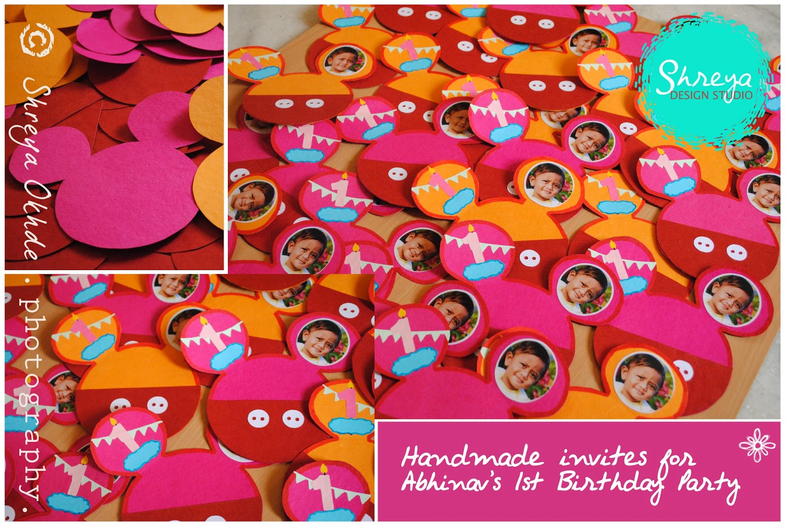 Handmade Invitations For Disneyland Themed Birthday Party Shreya