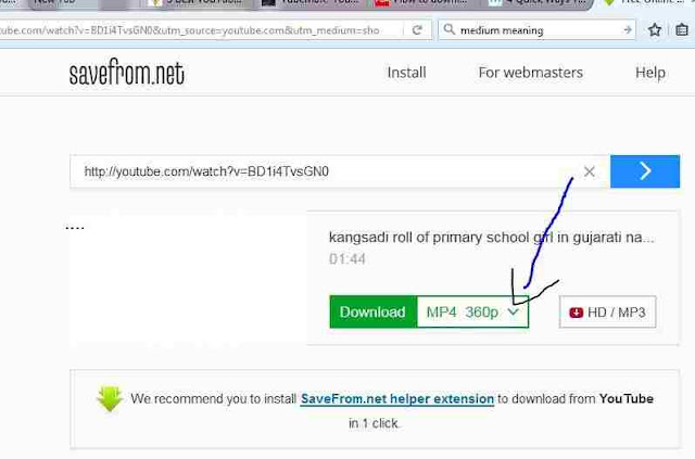DOWNLOAD YOUTUBE VIDEOS WITHOUT ANY SOFTWARE INFOMATION IN HINDI LANGUAGE