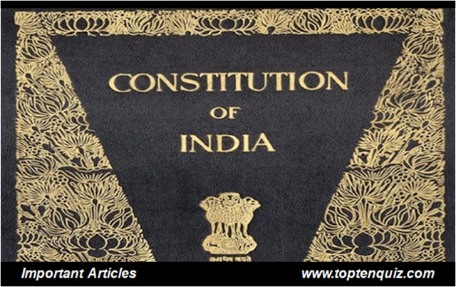 MCQ on Important Articles in Indian Constitution - exam oriented