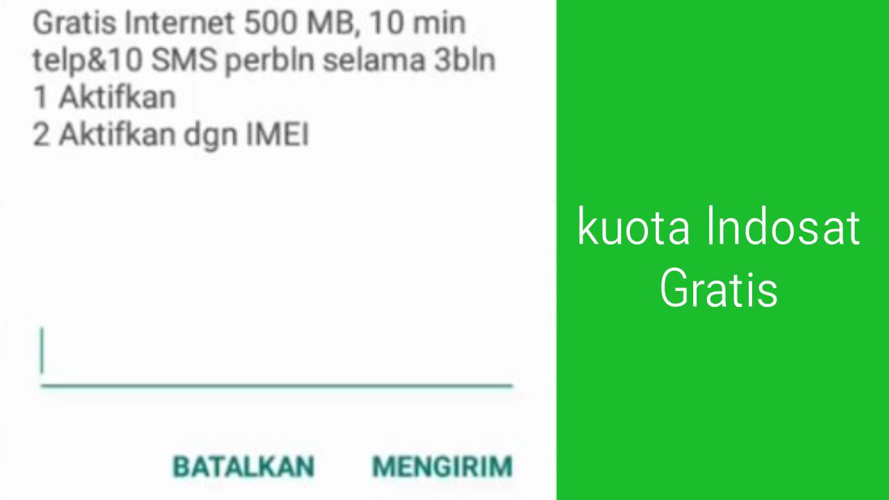 Kode Dial Paket Kuota Gratis Indosat Terbaru
