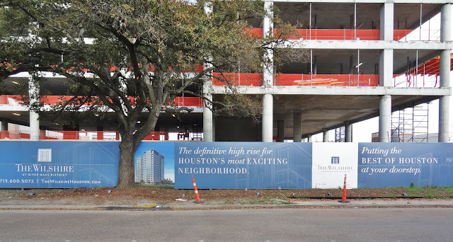 The Wilshire pitch - construction-site banner