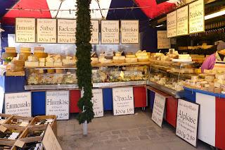 Puesto de quesos de Viktualienmarkt.
