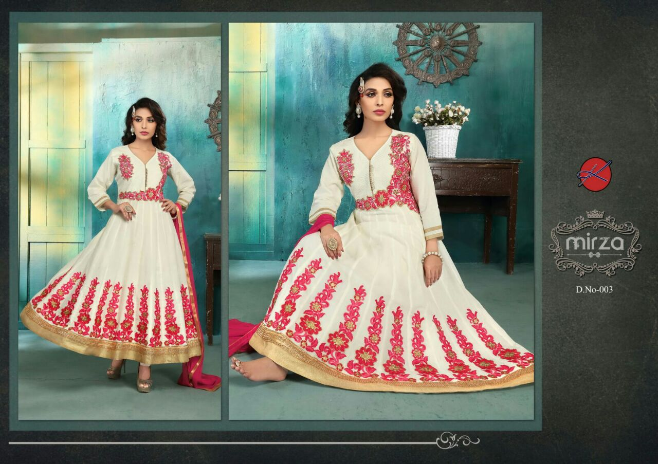 Mirza – Beautiful Stylish Cotton Ready to wear Anarakali suit
