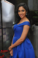 Actress Ritu Varma Pos in Blue Short Dress at Keshava Telugu Movie Audio Launch .COM 0016.jpg