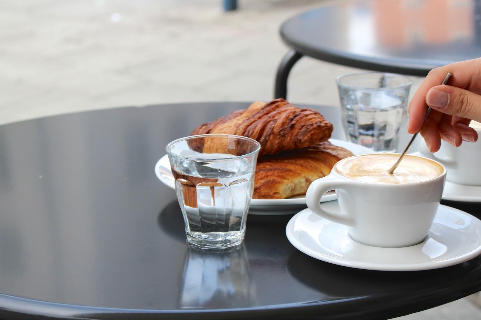Man Versus Machine coffee Munich franzbrötchen