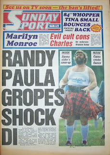 Sunday Sport newspaper dated 7th June 1987