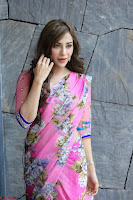 Actress Angela Krislinzki in Pink Saree Blouse Exclusive Pics March 2017 ~  131.JPG