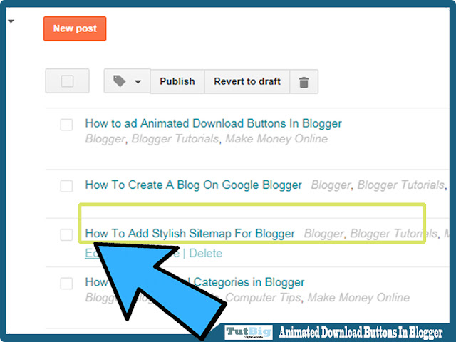 How to ad Animated Download Buttons In Blogger