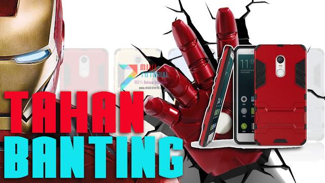 Rekomendasi Case Xiaomi: Armor Case Iron Man - Tahan Banting dan Keren: Based on Pengalaman Admin Miuitutorial.com - Review