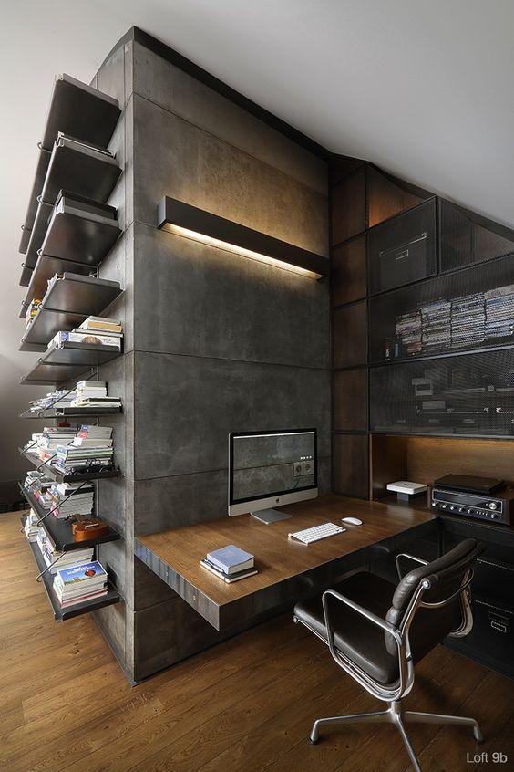 desan kantor kerja minimalis di rumah