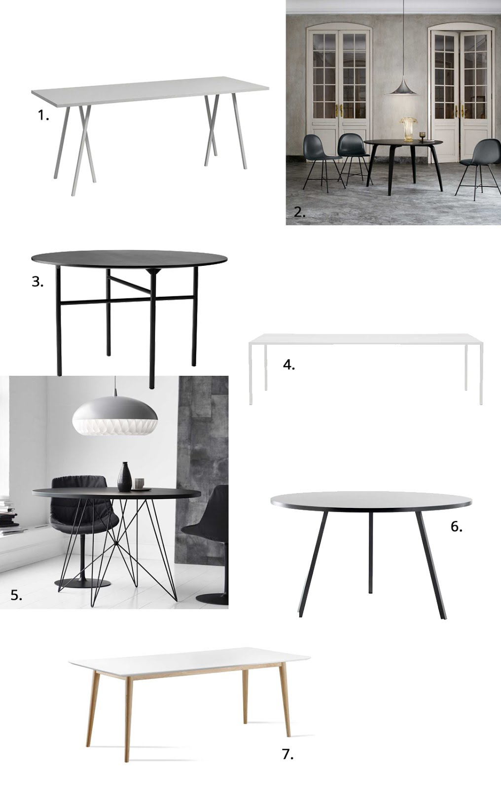 Designer tables, Loopstand Hay, Gubi round, Tense table, XZ3 Magis, Loopstand Hay, Retro Ruijch