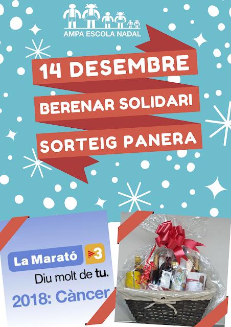 Imatge de la festa del 14 de desembre: berenar solidari i sorteig panera Nadal