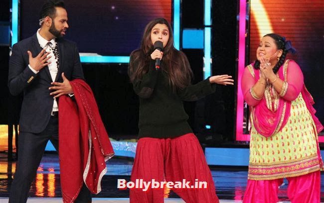 VJ Andy, Alia Bhatt and Bharti Singh, Alia Bhatt on India's Got talent