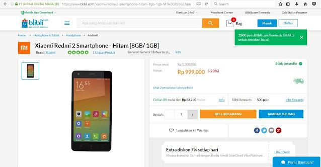 xiaomi redmi 2 smartphone harga 999.000an